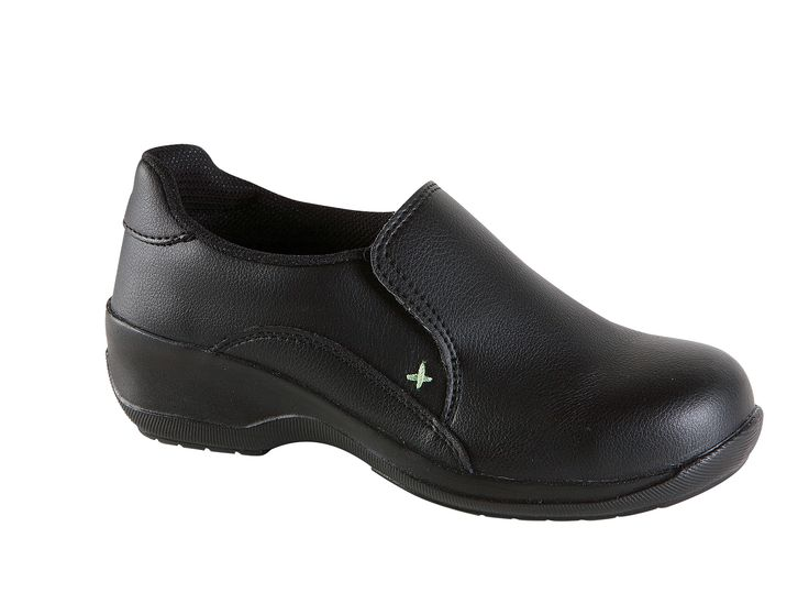 The 2500 is a black microfibre slip on safety shoe ideal for food workers or light industrial use environments.  It's rated as S1/SRA with a 200C temp resistance PU sole.  The upper is oil resistant.  A steel toe cap offers protection against falling objects.  There is no midsole protection. Available is sizes 2 - 8.  RRP £36.95