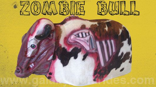 He may look gory and gruesome but Zombie Bull is here to make your Halloween season the best ever! http://www.therodeobullcompany.com/Zombie-Mechanical-Bull.html