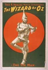HISTORYNET (September 24, 2009) ~ How author L. Frank Baum's mother-in-law, women's rights pioneer Matilda Joslyn Gage, inspired his most famous book, THE WIZARD OF OZ. [Click for article] (Pictured: A 1903 poster for Fred R. Hamlin's musical production of The Wizard of Oz. Image via Library of Congress)