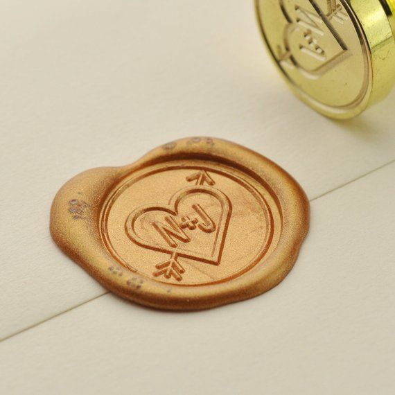 Personalized Initials Wax Seal Stamp Custom Wedding Initials Seals Wedding Invitation Seal Sealing Wax Stamp Customer Order 003