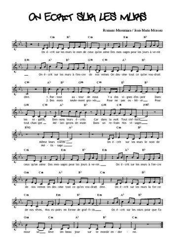 partition piano on ecrit sur les murs pdf