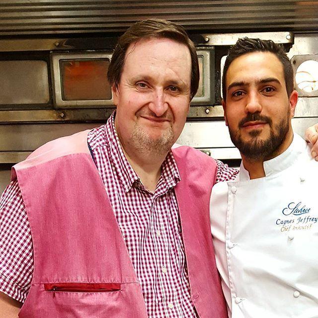 Rencontre avec un super pâtissier et surtout un homme de grand coeur. Un bel homme @jeffrey.cagnes