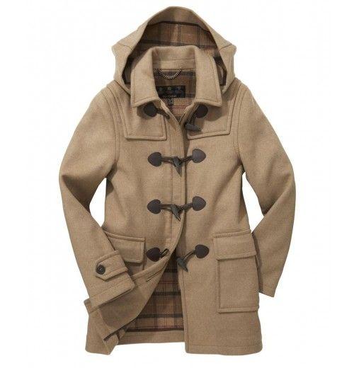 Barbour Ladies Classic Duffle Coat Sandstone 2014