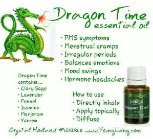 Dragon time essential oil Great for PMS and Menstrual cramps. Order your oils from www.theoildropper.com by AislingH