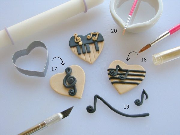 Try Different Styles of Music Cupcake Heart Toppers