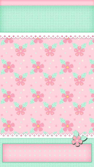 iBabyGirl Spring Pink Flowers Dots iPhone 5 Wallpaper.
