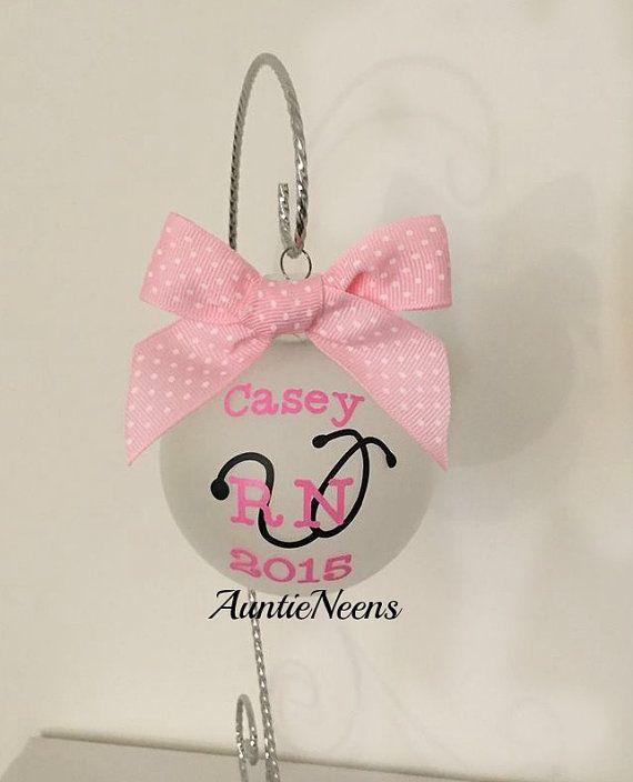 Nurse Christmas Ornament, Christmas Gift, RN Gift, Nursing student Gift