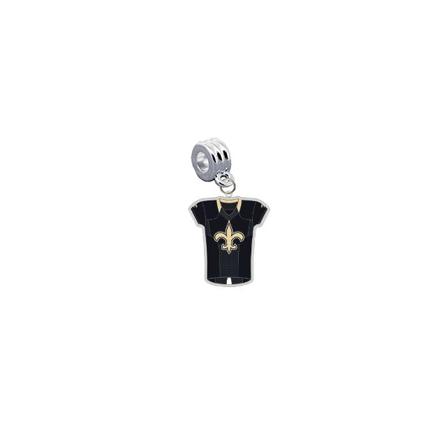 New Orleans Saints Game Day Jersey Universal European Bracelet Charm (Pandora Compatible)