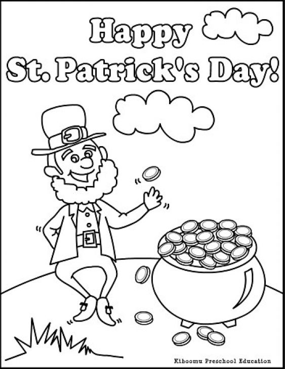 happy st patricks day by the old irish leprechaun coloring page - Irish Coloring Pages