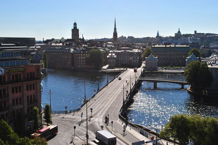 The magnificent view from the roof. http://www.sheratonstockholm.com/