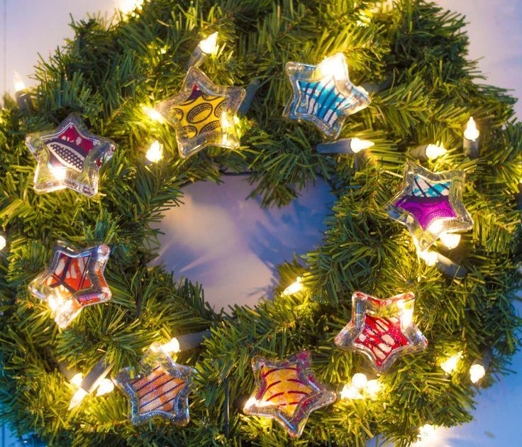 DIY easy to make wax print Christmas decorations (part II) fayahfayah.com