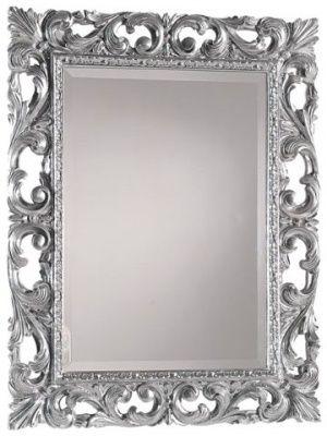 02125/A specchiera foglia argento  L.74 H.94