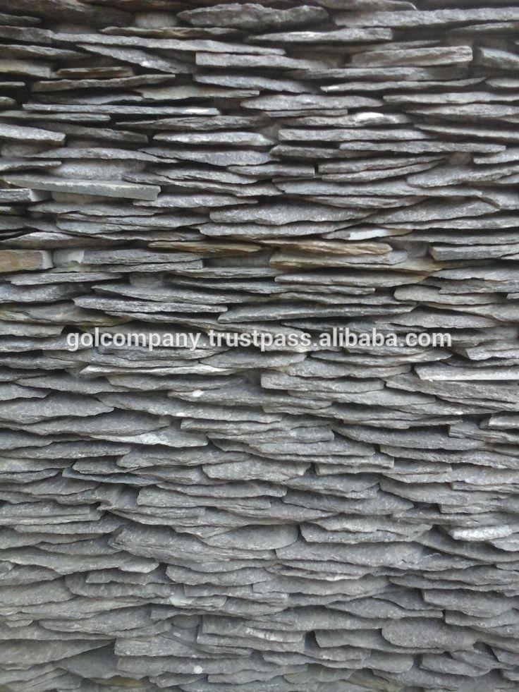 Leisteen gestapelde stenen muur Vietnam