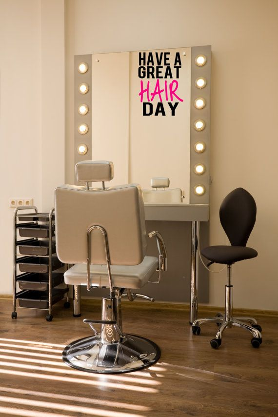 Salon Spiegel Decal Kosmetikerin Vinyl Aufkleber Hair
