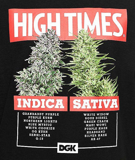 DGK X High Times Options Black T-Shirt  37ff9ee44a6