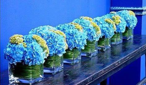 'baby blue shower decorations using clear vases'   Home › Planning › Trouwen-met-een-thema › Bruiloft-stijl ...