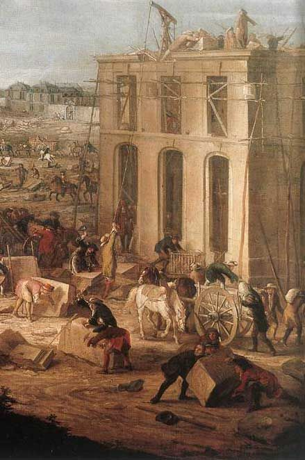 Workers at the construction of Versailles... Does anyone know the artist or details about this painting? Veronika.