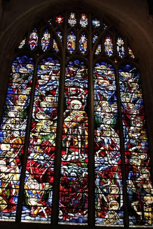 Stained glass window in Christ Church Cathedral ...