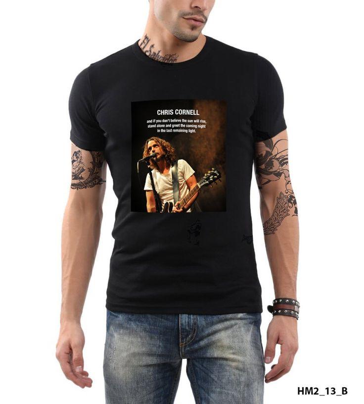 Chris Cornell Quote Soundgarden Audioslave American Rock Band T-shirt Slim Fit 100% Cotton