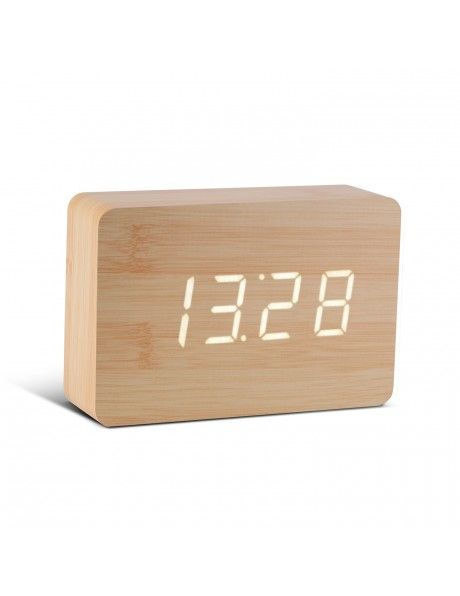 Réveil bois de hêtre et LED blanche