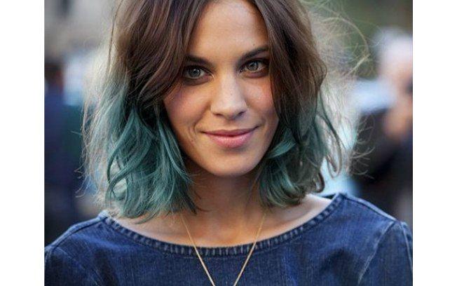 cabelo curto colorido nas pontas - Pesquisa Google