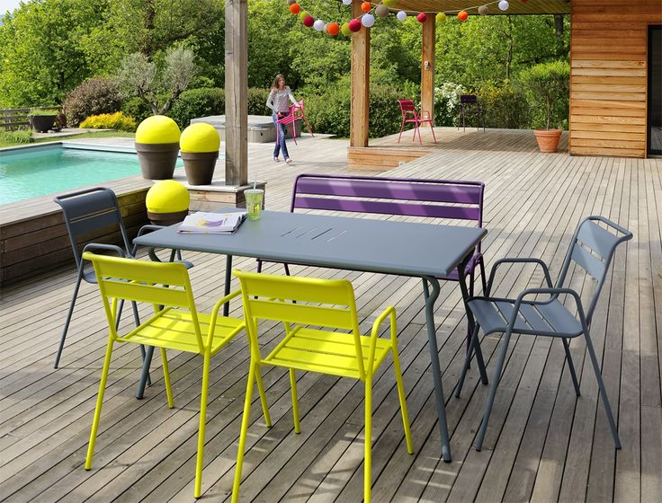 Fermob outdoor furniture from France. love the bright colours. Photo credit: Stéphane Rambaud