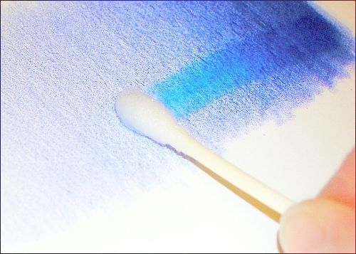 rubbing alcohol to blend colored pencils.