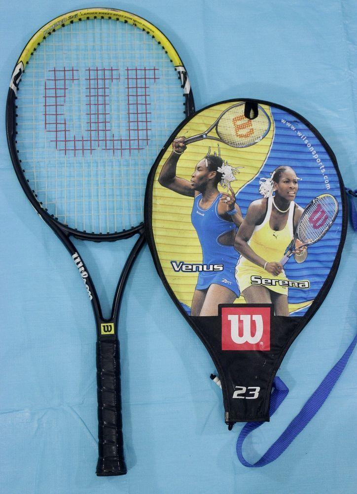 Venus Serena Williams Tennis Racket Racquet & Cover with Beads Wilson Hammer 26 #Wilson