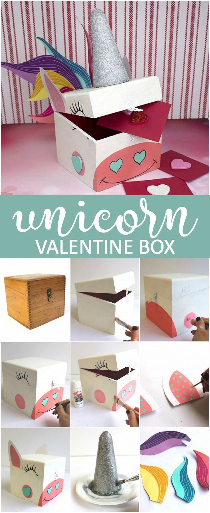 Create this project with Americana® Acrylics — Store those Valentine's cards in this whimsical box made with Americana® Acrylics.