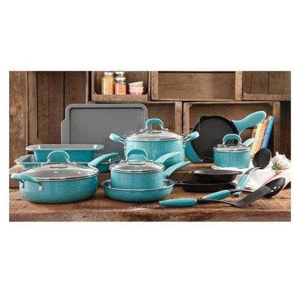 The Pioneer Woman Vintage Speckle 20 Piece Blue Cookware