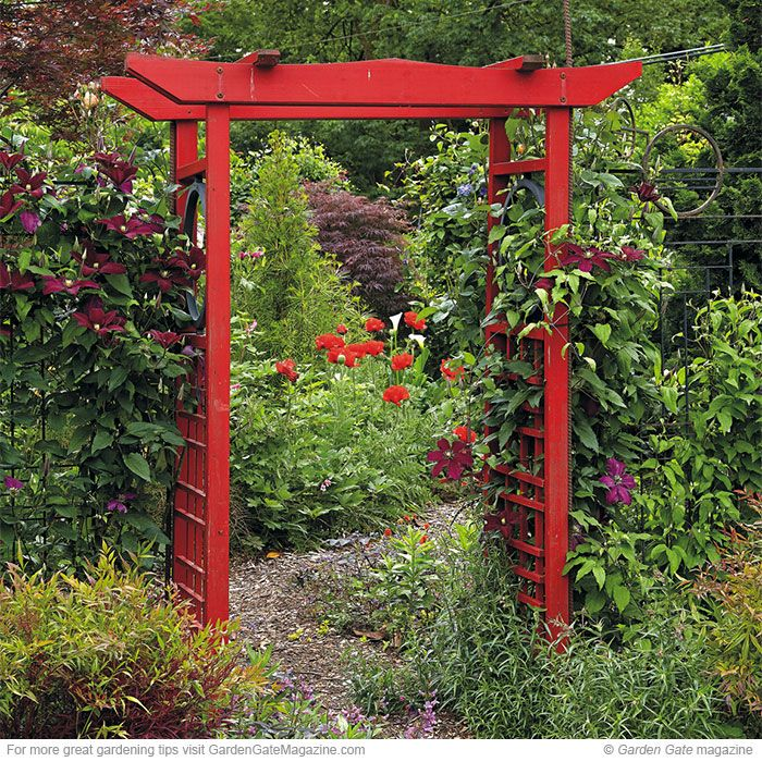 "Frame beautiful views in your garden Frame your view! A great frame makes every picture better. In the garden, a frame can direct attention or entice visitors to continue on. They can be subtle or shout, ""Look right here!"" Arbors and paths naturally help control the vantage point — as they step closer, guests see the view they compose. 