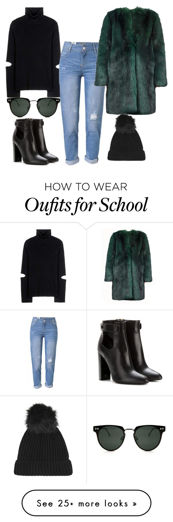 """""""Untitled #1426"""" by dani-gracik on Polyvore featuring Tom Ford, Public School, WithChic, Dries Van Noten, Spitfire and Topshop"""