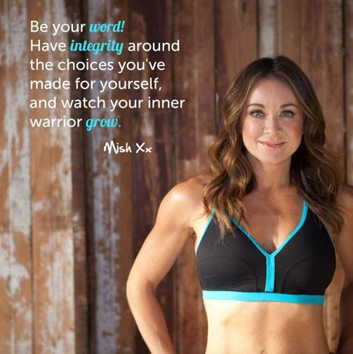 """Be your word! Have integrity around the choices you've made for yourself, and watch your inner warrior grow."" @12 Week Body Transformation -Michelle Bridges #fitspo #12wbt #us12wbt"