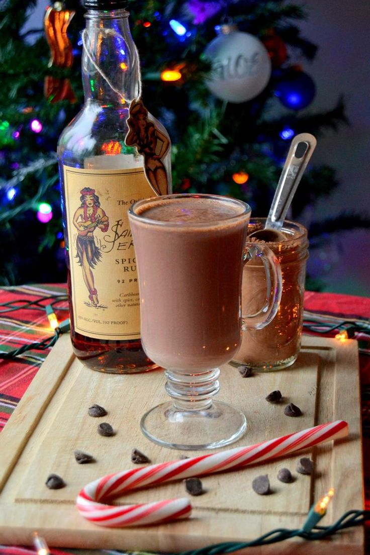 Hot cocoa with Sailor Jerry Rum