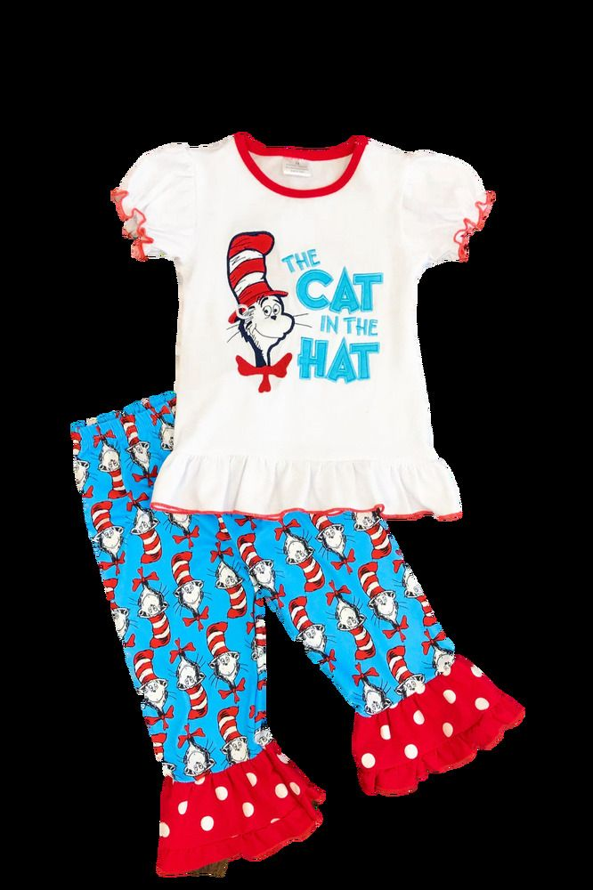 81de43b56d20 Dr. Seuss Cat in the Hat Boutique Outfit 2 3 4 5 6 7 8 sip ...