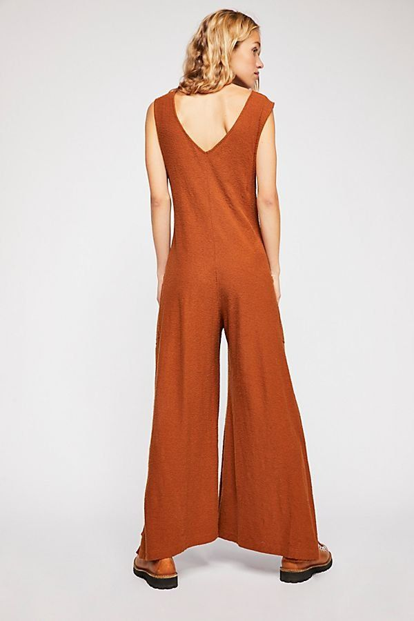27a31e1a6ad Numero Uno Jumper - Sienna Brown Sleeveless Cotton Jumpsuit with Tie Front