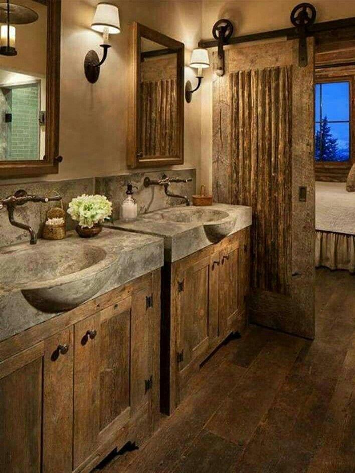 86 Best Rustic Vanities Images On Pinterest Bathroom