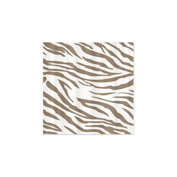 Cocoa and White Zebra Print Shower curtain via Polyvore