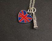London Charm Necklace Union Jack Necklace I love di Maraviglie
