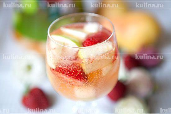 Сангрия с шампанским - рецепт с фото