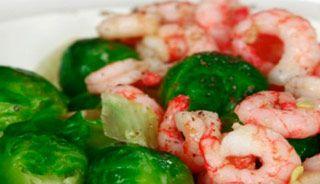 #Choux de Bruxelles aux #crevettes et lait de coco #recettesduqc #sante