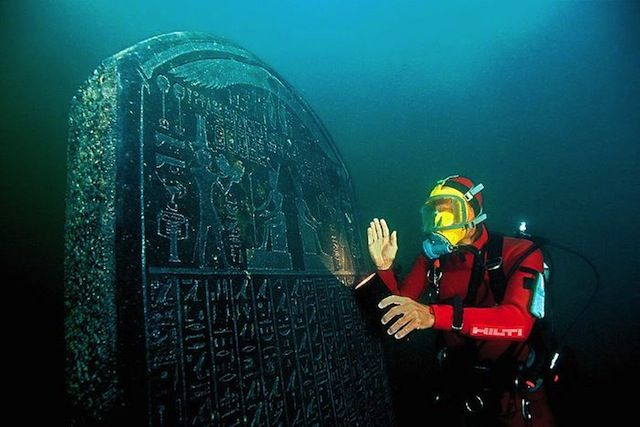 Amazing new discovery of an Ancient Egyptian City Heracleion, who for centuries it was thought to be a legend, a city of extraordinary wealth mentioned by Herodotus, visited by Helen of Troy and Paris, but apparently buried under the sea. It is believed Heracleion served as the obligatory port of entry to Egypt for all ships coming from the Greek world. Awesome photos on website.