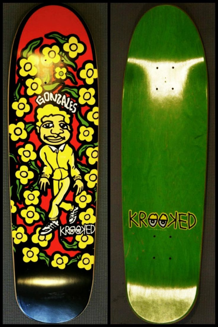 Sk8face Deck Of The Day Krooked Mark Gonzales