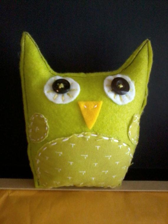 Nice Chartreuse Felt Owl #cruiseichartreuse