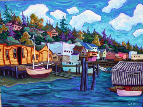Cowichan Bay Acrylic on canvas 36 x 48 inches
