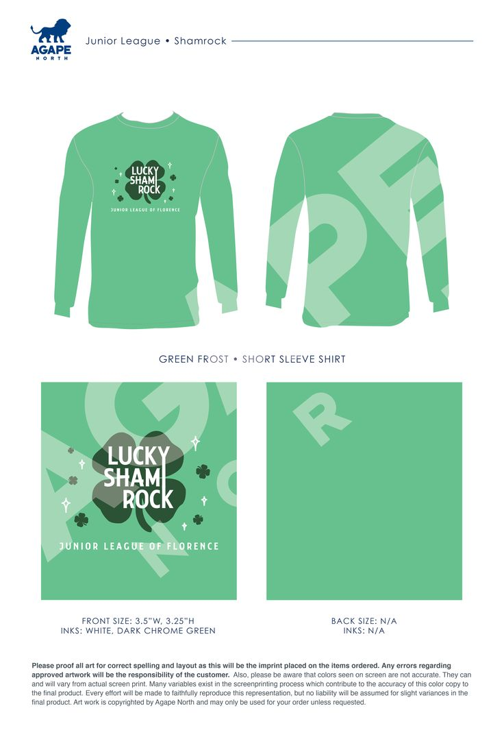 Agape North: Custom Apparel that Gives Back. #juniorleague #luckyshamrock