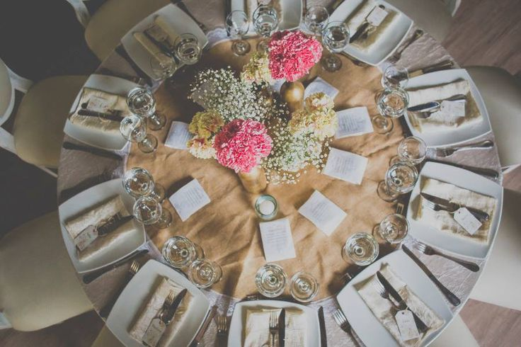 Un cuento de boda. centros de mesa vintage