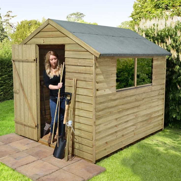 cedar storage shed 8x6 pressure treated overlap apex wooden shed buy sheds direct uk - Garden Sheds Wooden