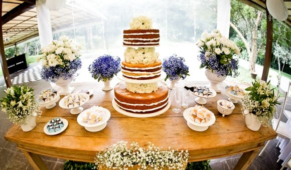 casamento mesa do bolo naked cake - Pesquisa Google