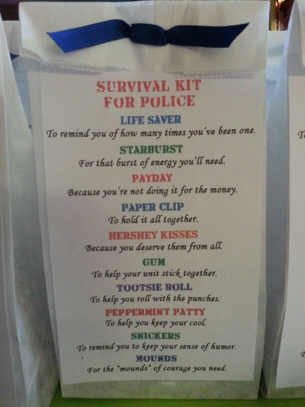 Survival Kit For Police If It Weren T For Pinterest I